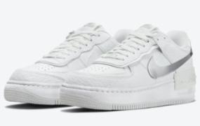 Nike Air Force 1 Shadow 细节化镀铬覆层