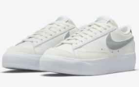 这款 Nike Blazer Low 平台配有镀铬高跟鞋和彩虹色吊牌