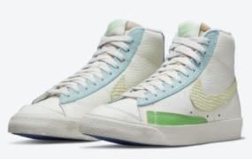 这款 Nike Blazer Mid '77 搭配混合材质