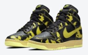 "Nike Dunk High 1985 ""Yellow Acid Wash""官方照片"