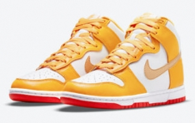 激光橙色 Nike Dunk High Surface