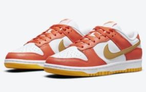 "Nike Dunk Low ""Golden Orange"" 官方照片"