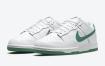 Nike Dunk Low 以白色和绿色呈现