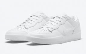 "Nike SB Force 58 Premium 发布""Triple White"""