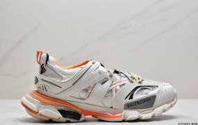 """巴黎世家Balenciaga Tess S. Gomma Trek Low Top Sneakers3.0代复古野跑姥爹潮流百搭慢跑鞋""""黑魂"""""""