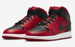"Air Jordan 1 Mid ""Reverse Bred"" 即将发售"