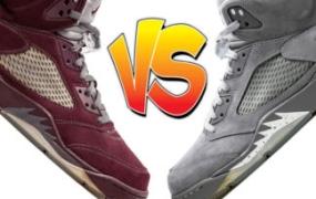 """更好的 Air Jordan 5:""""Burgundy""""或""""Wolf Grey"""""""