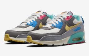 色彩缤纷、俏皮的 Nike Air Max 90 儿童鞋