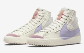 Nike Blazer Mid '77 Jumbo 以柔和的紫色 Swoosh 出现