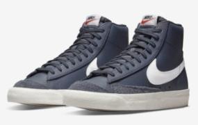 Nike Blazer Mid '77 海军蓝皮革