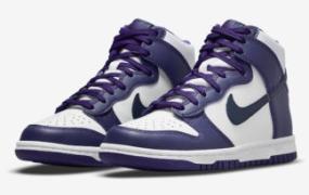 Nike Dunk High 以海军蓝和紫色亮相