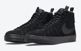 "Nike SB Blazer Mid ""Acclimate"" 以三重黑色出现"