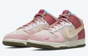"Social Status x Nike Dunk Mid ""草莓牛奶""终于发售"