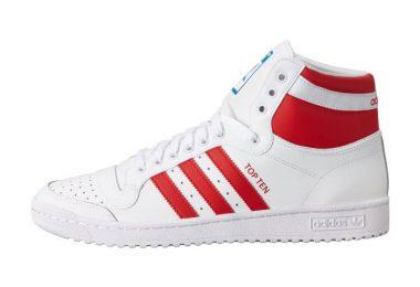 阿迪达斯 Adidas Top Ten Hi经典款三叶草高帮板鞋