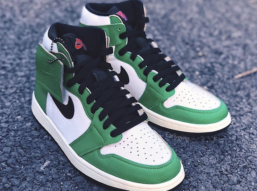 zsneakerheadz, Swoosh, Lucky Green, Jordan, Black, AIR JORDAN 1 HIGH OG, Air Jordan 1, Air Jordan