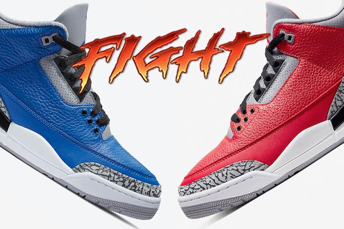 Nike Air, Jumpman, Jordan Brand, Jordan, Black, AIR JORDAN 3 VARSITY ROYAL, AIR JORDAN 3 RED CEMENT