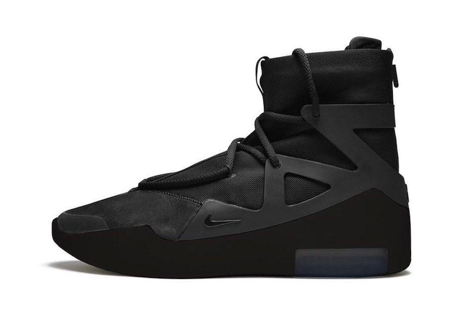 "Triple Black, Nike Air, NIKE, Black, Air Fear of God 1"" Triple Black"""