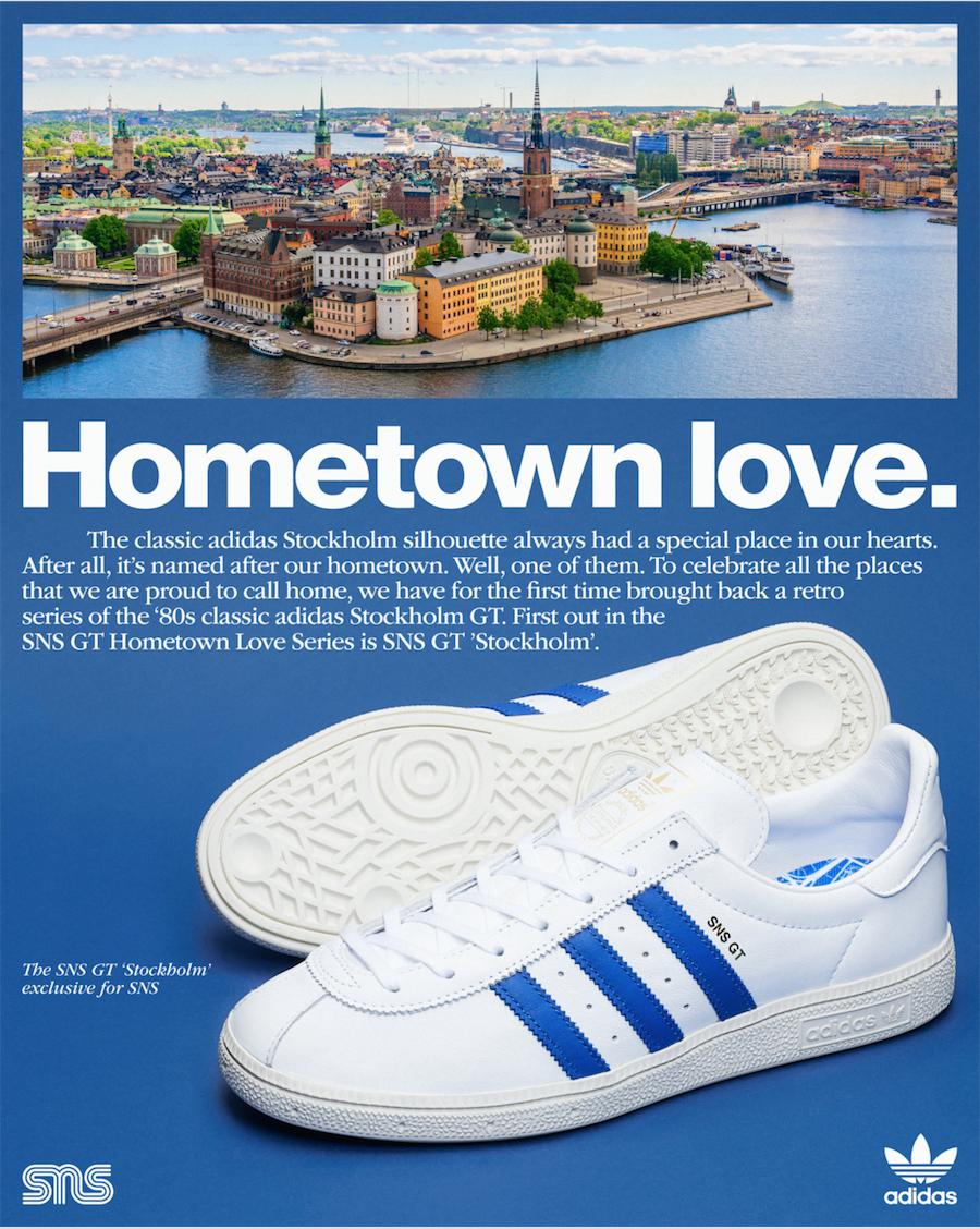 "SNS x adidas Stockholm GT, SNS GT""斯德哥尔摩"", adidas Stockholm, adidas Originals"