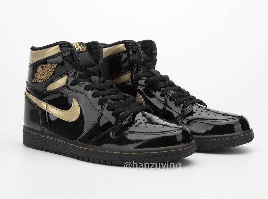 Air-Jordan-1-Black-Metallic-Gold-Patent-Leather-555088-032-Release-Date-2