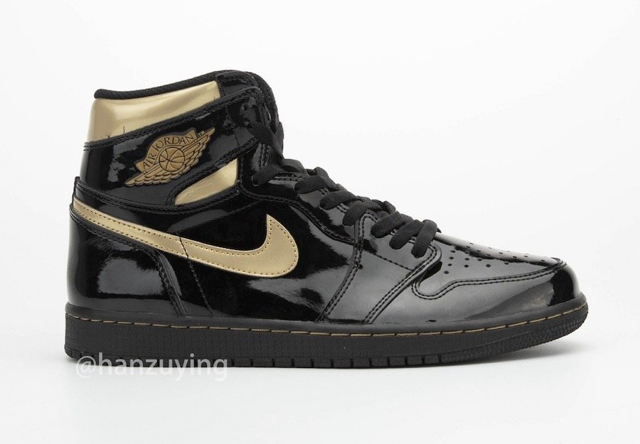 Air-Jordan-1-Black-Metallic-Gold-Patent-Leather-555088-032-Release-Date-3