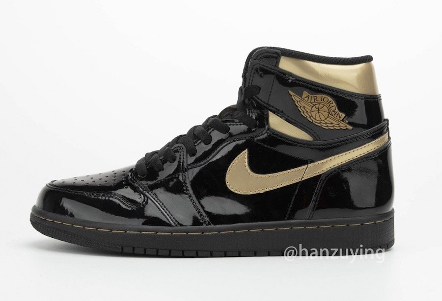 Air-Jordan-1-Black-Metallic-Gold-Patent-Leather-555088-032-Release-Date-5