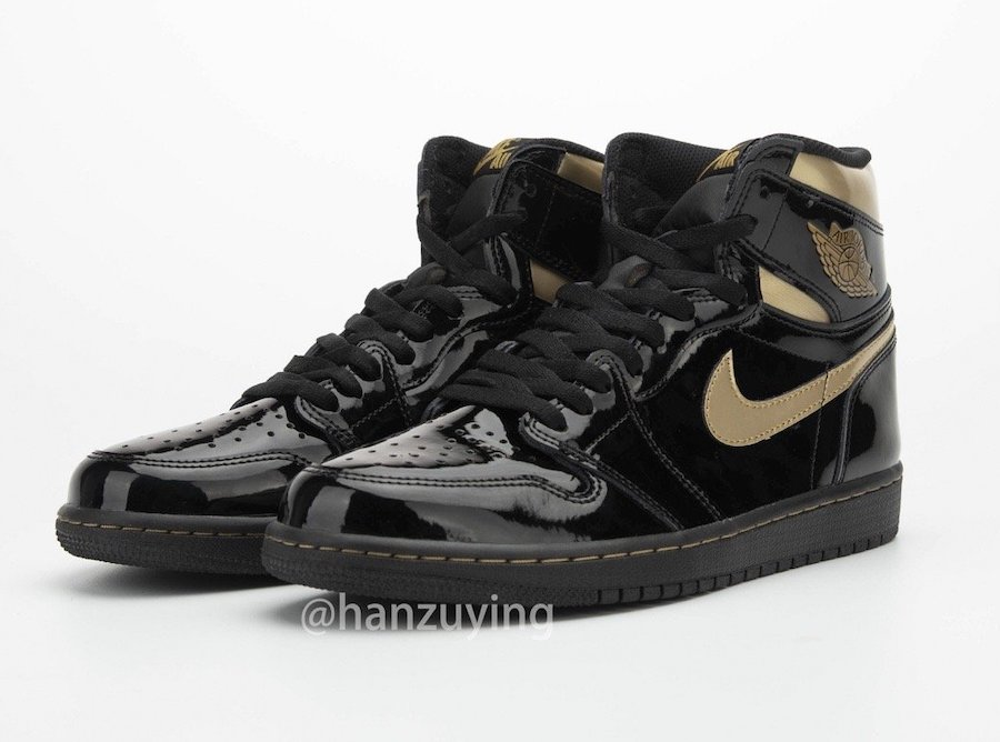 Air-Jordan-1-Black-Metallic-Gold-Patent-Leather-555088-032-Release-Date
