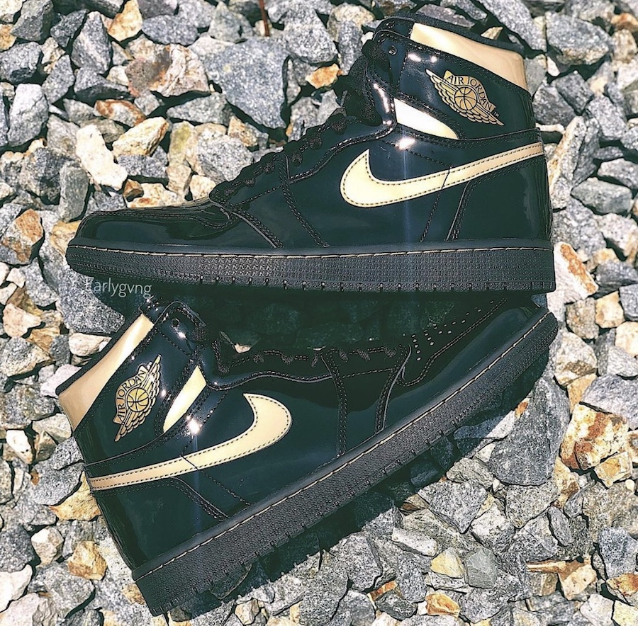 Air-Jordan-1-High-Patent-Black-Metallic-Gold-555088-032-Release-Date-Price-2
