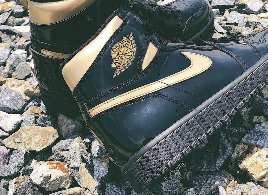 Air-Jordan-1-High-Patent-Black-Metallic-Gold-555088-032-Release-Date-Price-7
