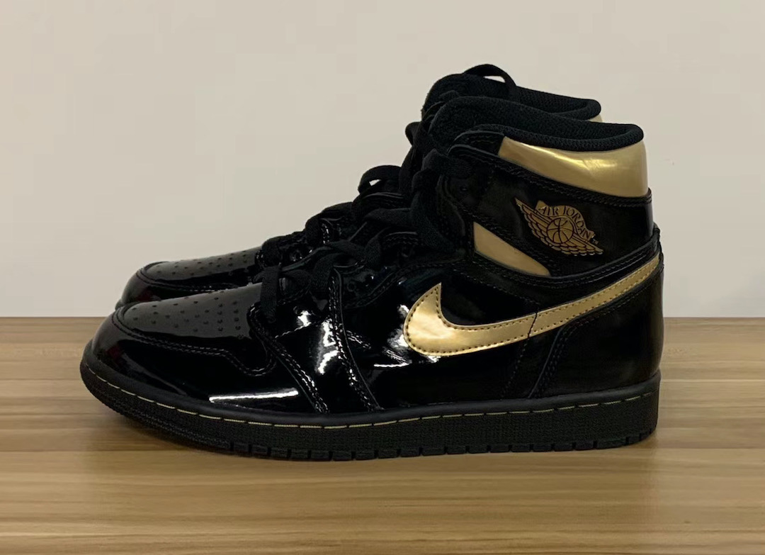 Air-Jordan-1-Patent-Leather-Black-Gold-555088-032-Release-Date-Pricing