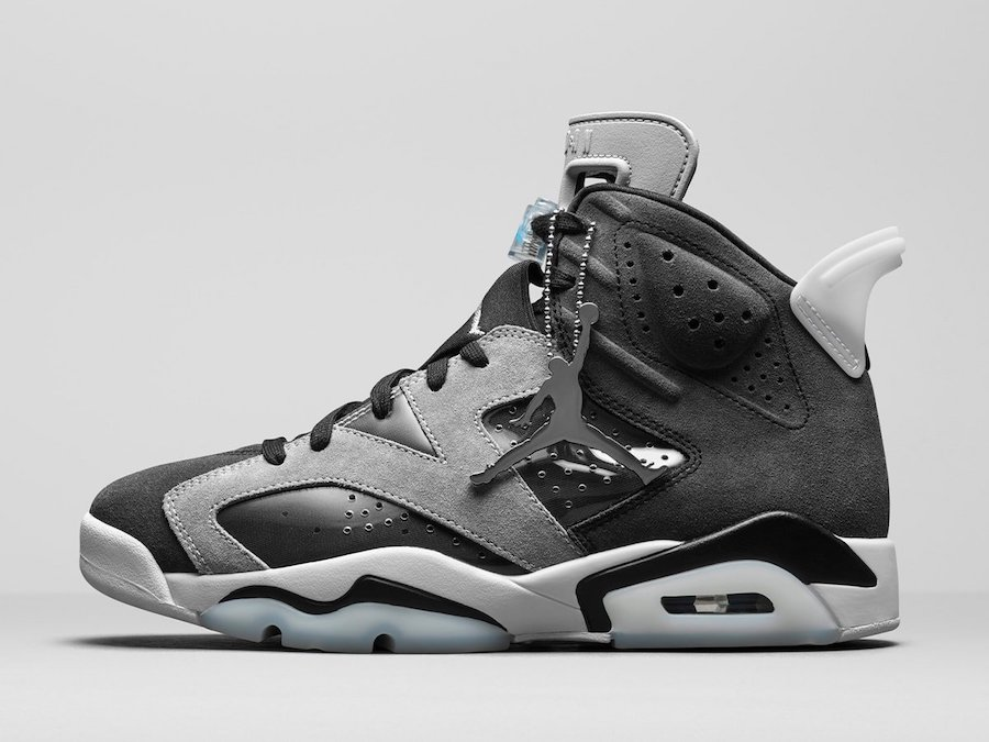 Smoke Grey, Jumpman, Jordan Brand, Jordan, Black, Air Jordan 6 WMNS, Air Jordan 6, Air Jordan