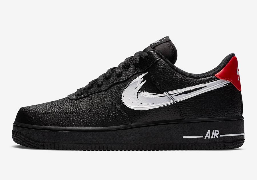 Swoosh, Nike Air Force 1 Low, Nike Air Force 1, Brushstroke Swoosh, Black, Air Force 1 Low, Air Force 1
