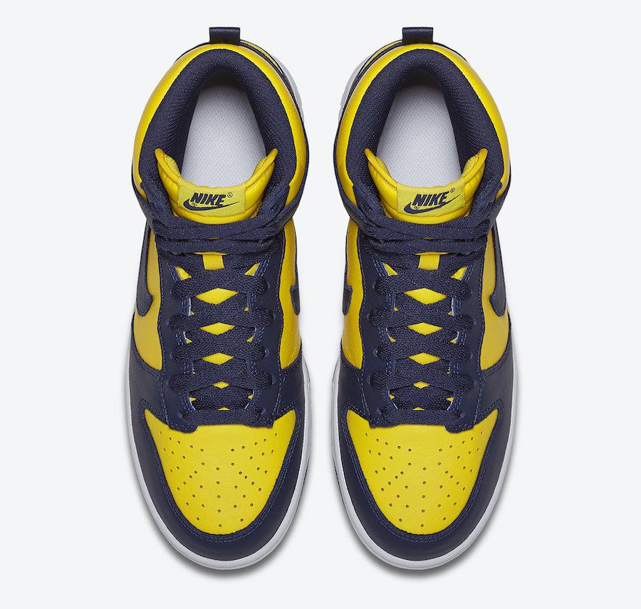 Nike Dunk High, Nike Dunk, Midnight Navy, Michigan, Dunk High, Dunk