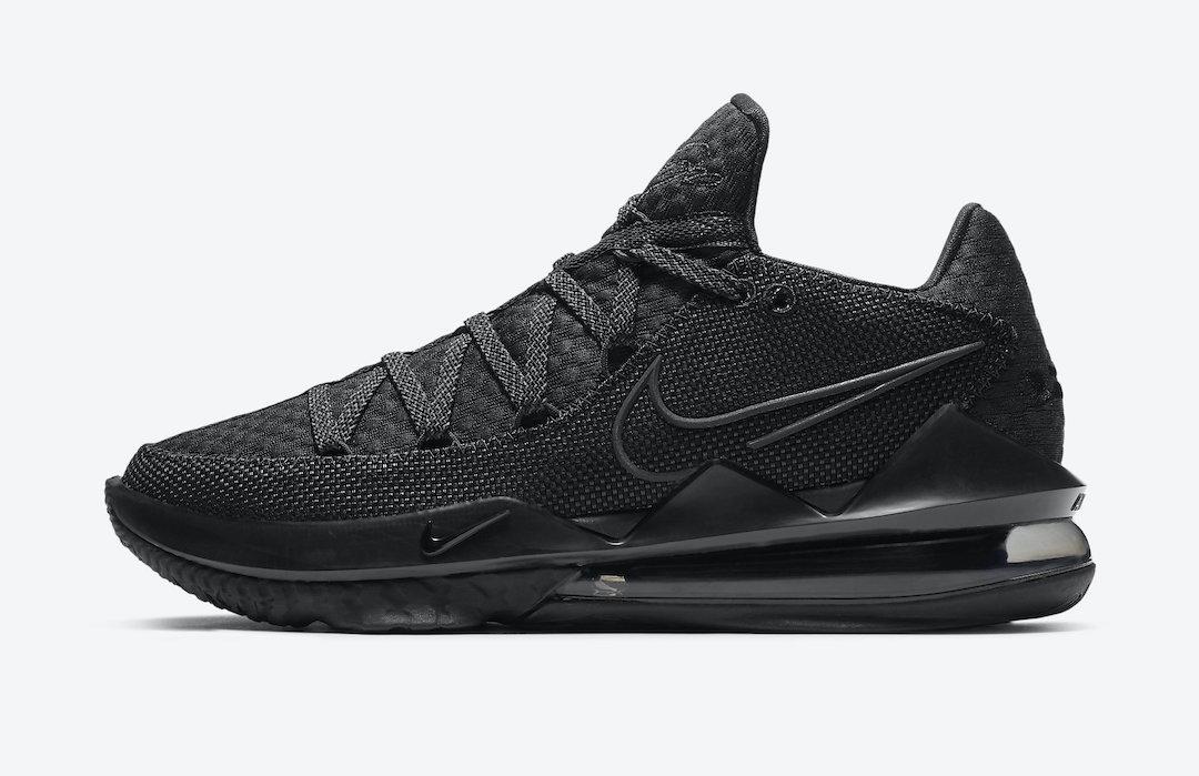 Triple Black, Nike LeBron 17, LeBron 17 Low, Black, Air Max