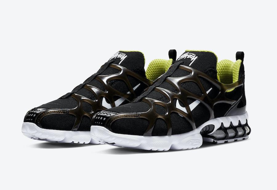Zoom, Stussy, Spiridon Kukini, Nike Air, Black, Air Zoom