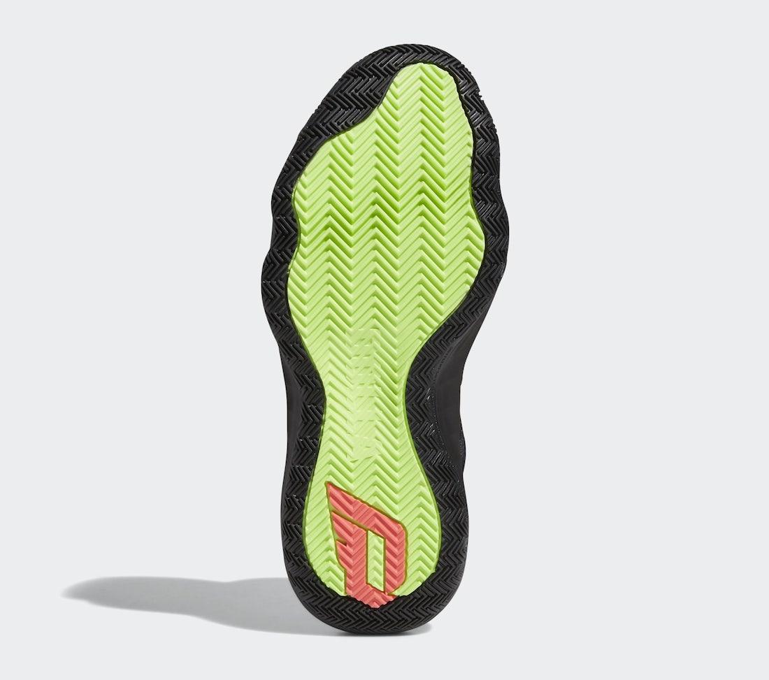 Damian Lillard, Black, adidas Dame 6, Adidas