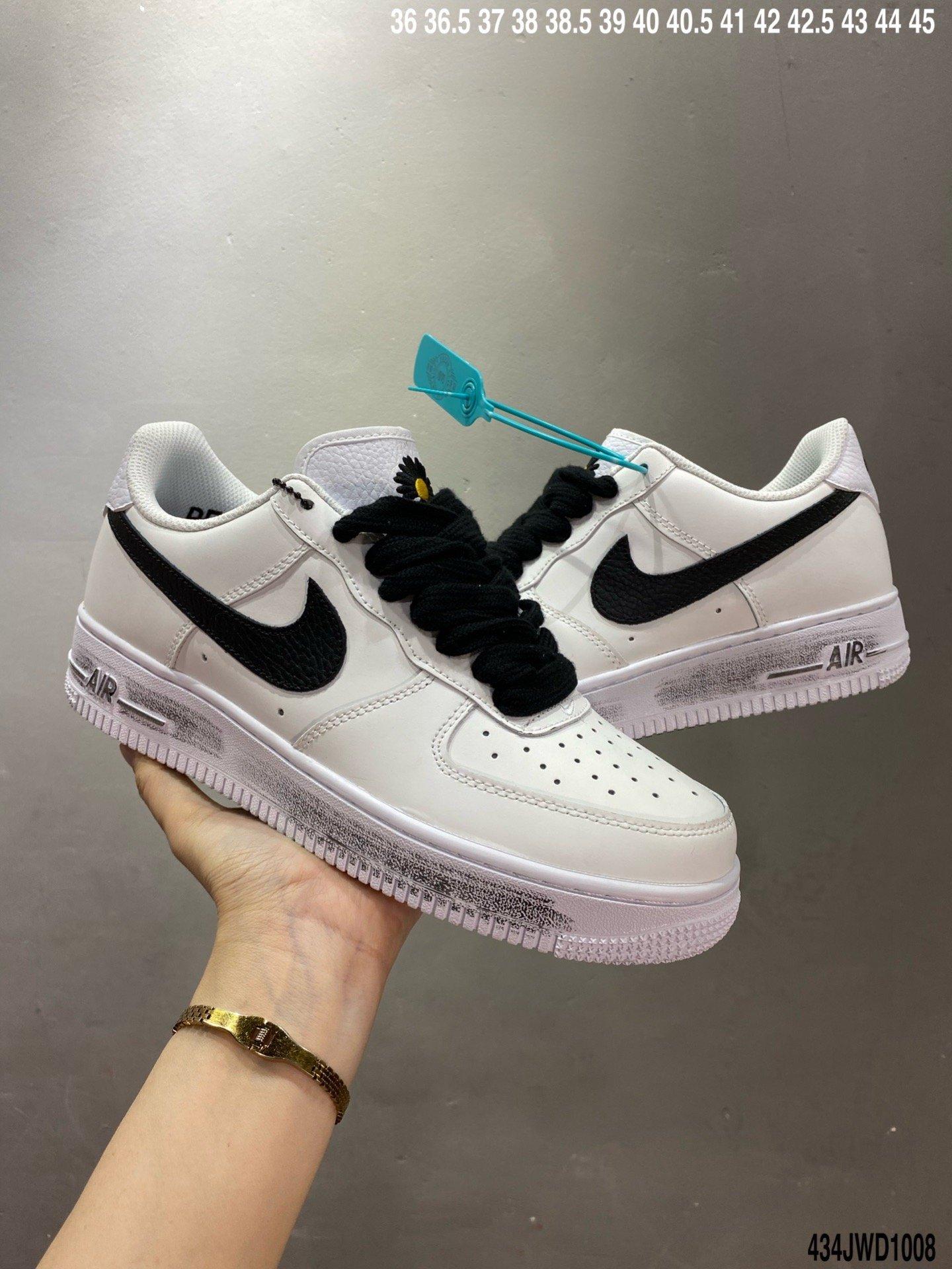 皮革白黑小雏菊, 板鞋, Nike Air Force 1, Nike Air, G-Dragon, Air Force 1