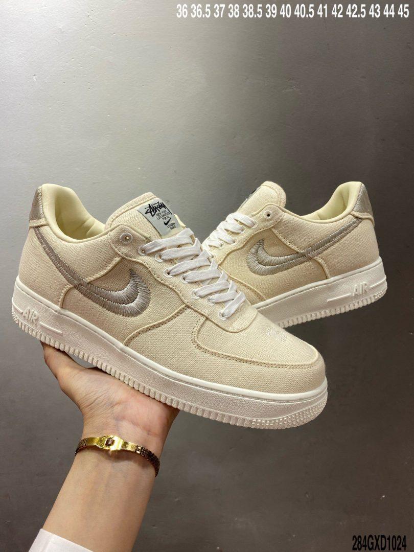 联名, Swoosh, Stussy, Nike Air Force 1, Nike Air, Air Force 1