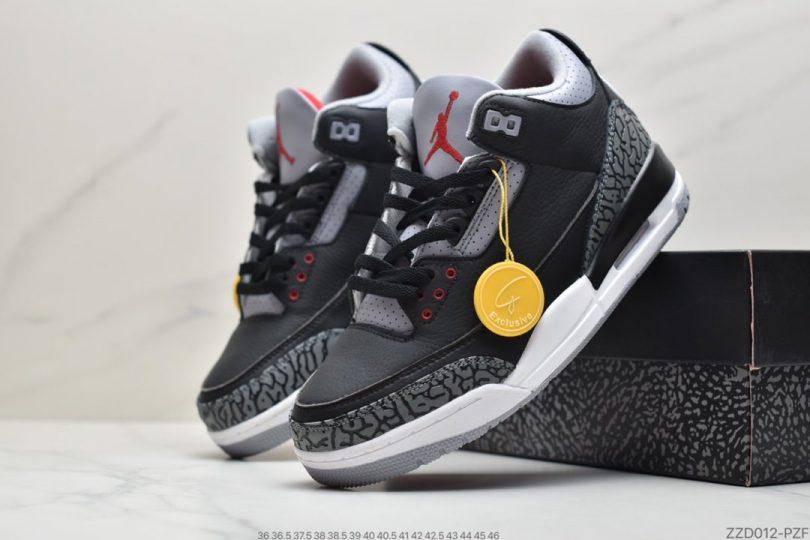 篮球鞋, 爆裂纹, Nike Air, Jordan, Black, AJ3, Air Jordan 3 Retro, Air Jordan 3, Air Jordan