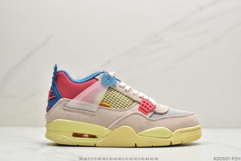"""联名, 篮球鞋, 文化篮球鞋, Off-White, Jordan, Cream/Sail""""""""OW, Air Jordan 4, Air Jordan"""