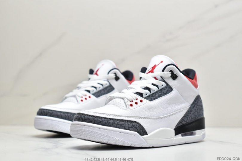 篮球鞋, 爆裂纹, 文化篮球鞋, 单宁火焰红, Fire Red, AJ3, Air Jordan 3 Retro, Air Jordan 3, Air Jordan