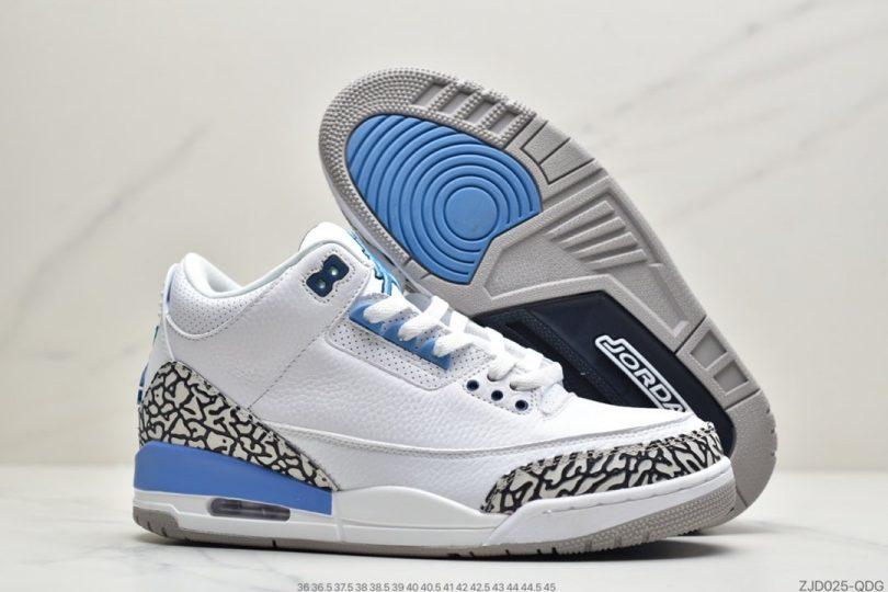 篮球鞋, 爆裂纹, 文化篮球鞋, 北卡蓝, Jumpman, Air Jordan 3, Air Jordan