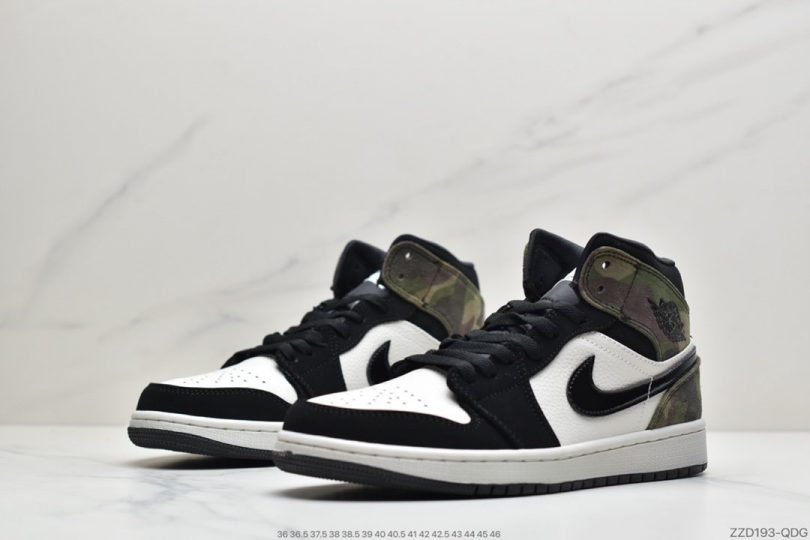 运动鞋, 篮球鞋, 实战篮球鞋, Swoosh, Jordan, Air Jordan 1 Mid, Air Jordan 1