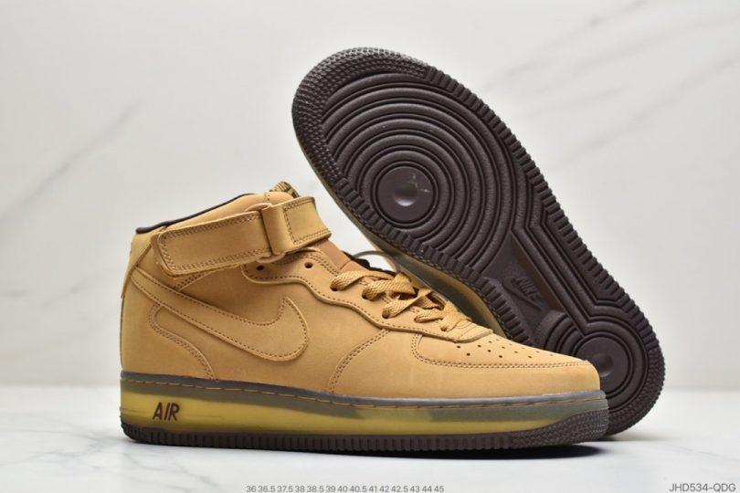 高帮, 运动板鞋, 板鞋, Wheat Mocha, Nike Air, Air Force 1, AF1