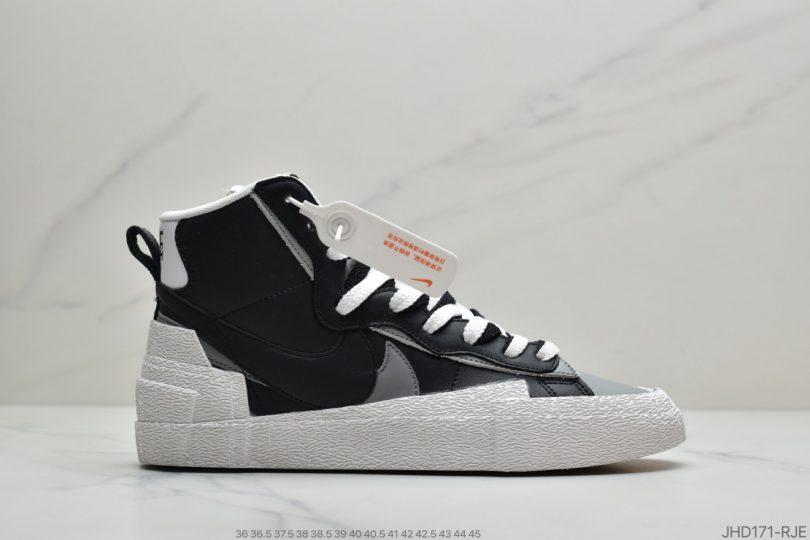 高帮, 联名, 板鞋, 开拓者, Blazer, Black