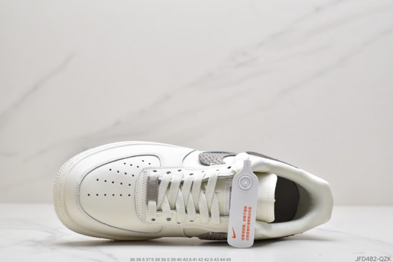 运动板鞋, 解构, 空军一号, 白浅灰断勾, 断勾, Swoosh, Nike Air Force 1, Nike Air, Air Force 1