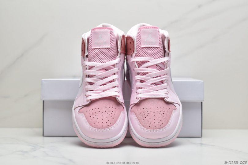 Jordan, Digital Pink, Air Jordan 1 Mid, Air Jordan 1, Air Jordan