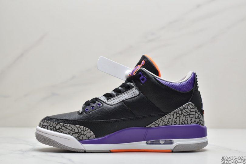 篮球鞋, 爆裂纹, 乔丹篮球鞋, Jumpman, Jordan, Cool Grey, AJ3, Air Jordan 3 Retro, Air Jordan