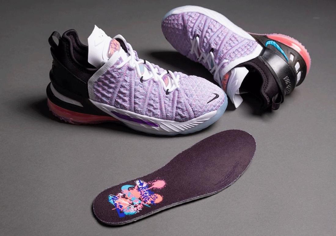 涂鸦, Swoosh, Nike LeBron 18, LeBron 18, Flyknit