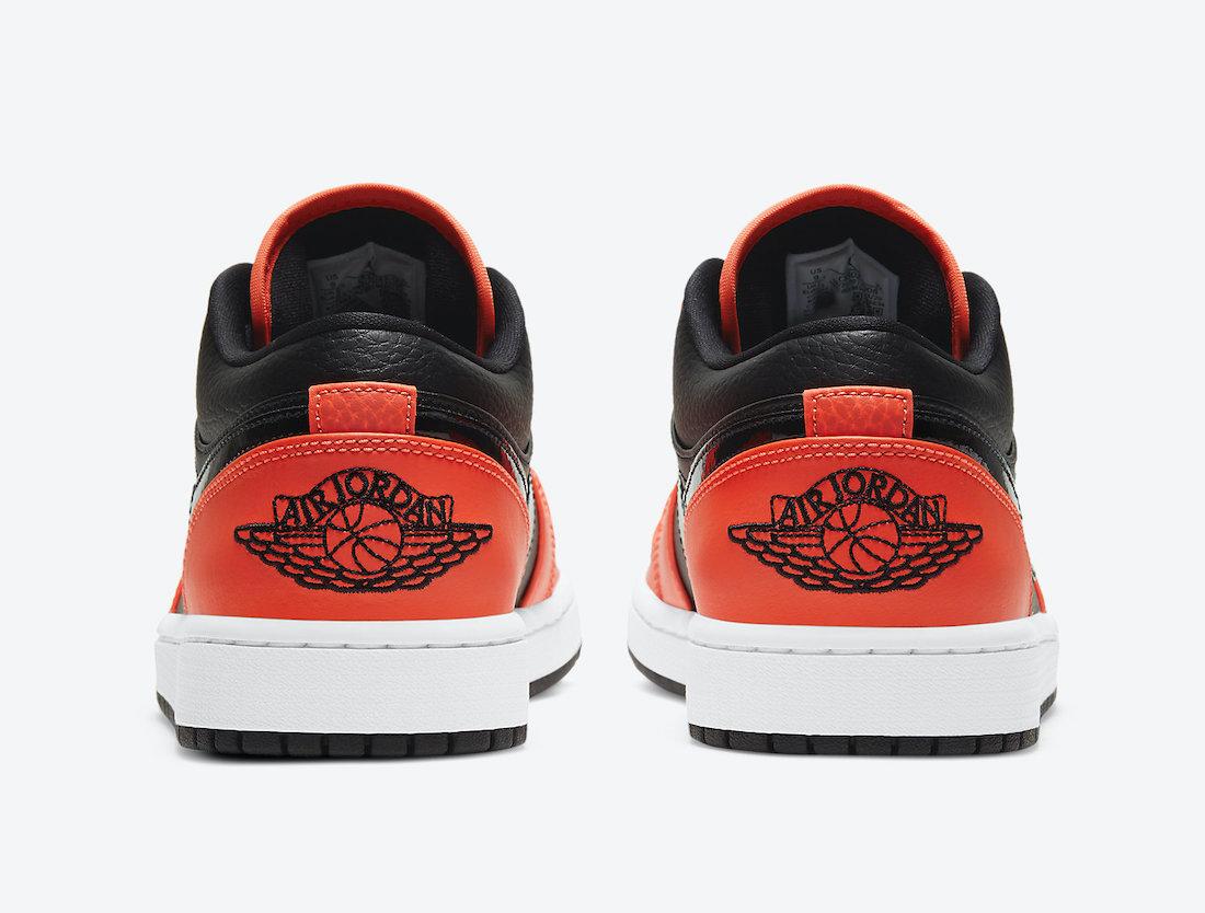 Swoosh, Orange, Jumpman, Jordan, Black, Air Jordan 1 Low, Air Jordan 1