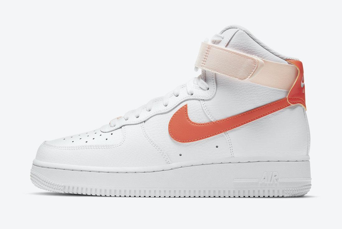 Swoosh, Orange Pearl, Orange, Nike Air Force 1 High, Nike Air Force 1, Nike Air, AF1